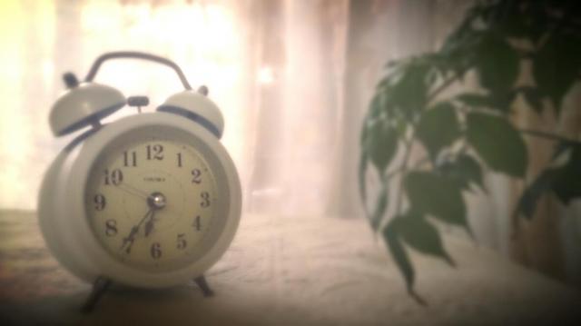 朝の目覚まし時計