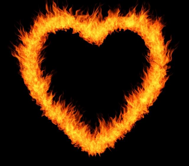 ハート型の炎