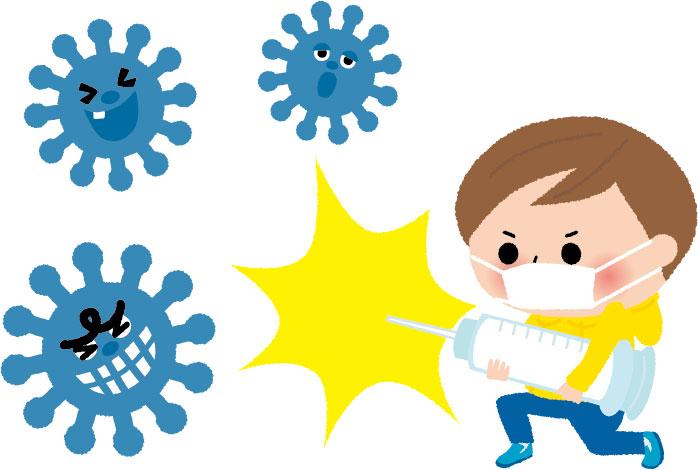インフルエンザ対策のイラスト