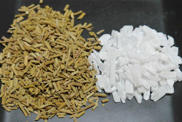 麻黄と石膏の配合割合